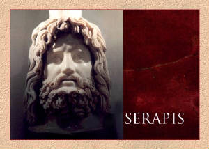 marble bust of Serapis in the Museum of London